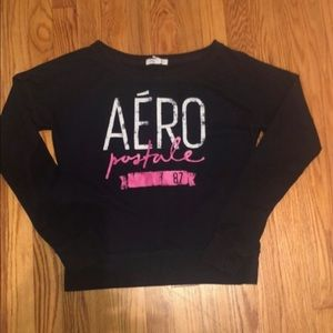 Aeropostle navy pink & white sweatshirt S